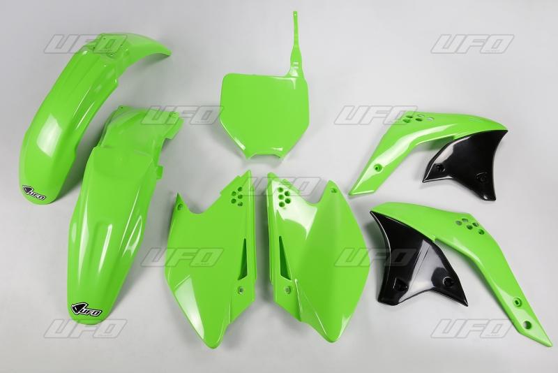 Sada plastů UFO KXF 250 2007-026-zelená KX org.