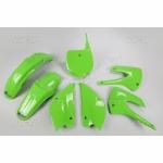 Sada plastů UFO KX85 2013 Restyling-026-zelená KX org.