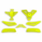 Plastový díl sada brady přilbyDiamont-DFLU-neon/žlutá