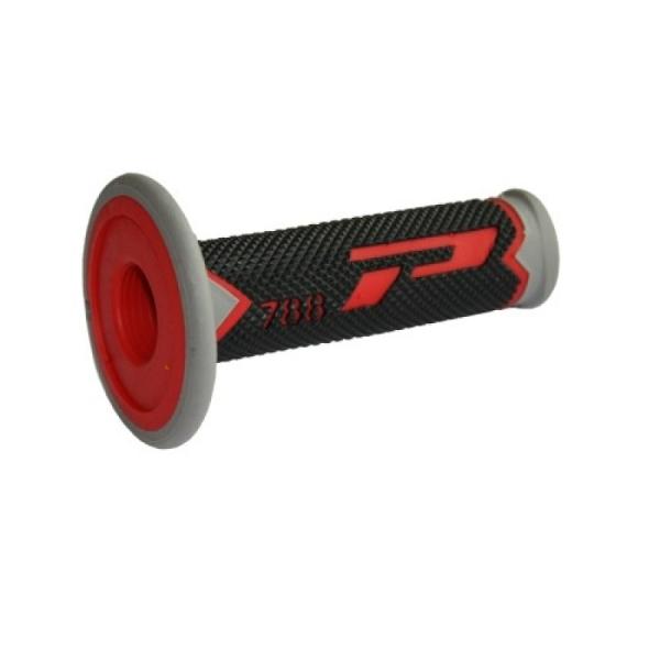 Ručky řídítek ProGrip-02-červená