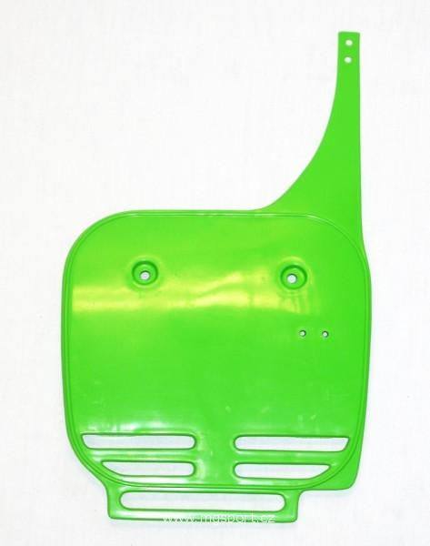 Přední číslová tabulka-026-zelená KX org.