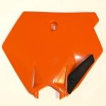 Přední číslová tabulka-127-oranžová (03-)