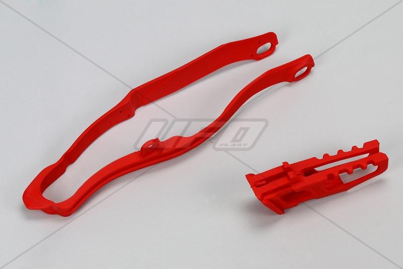 Sada vodítko + lízátko kyvné vidlice-070-červená Honda
