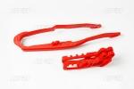 Sada vodítka a lízátka řetězu-070-červená Honda