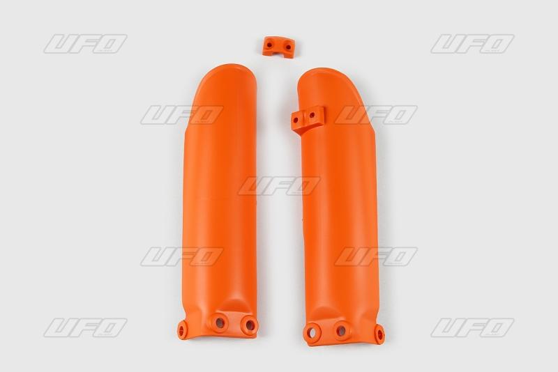 Chránič přední vidlice -127-oranžová (03-)