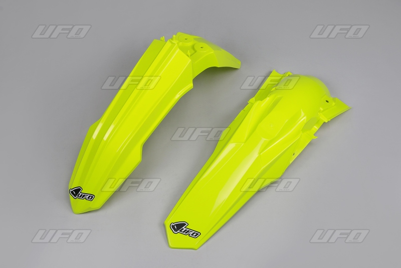 Sada blatníků RMZ 450 2018, RMZ 250 19-DFLU-neon/žlutá
