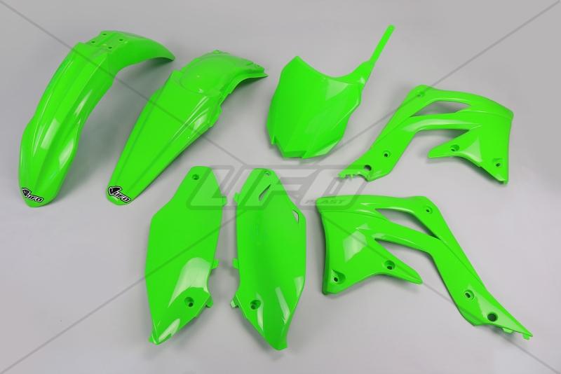 Sada plastů UFO KXF 450 2013-2015-026-zelená KX org.