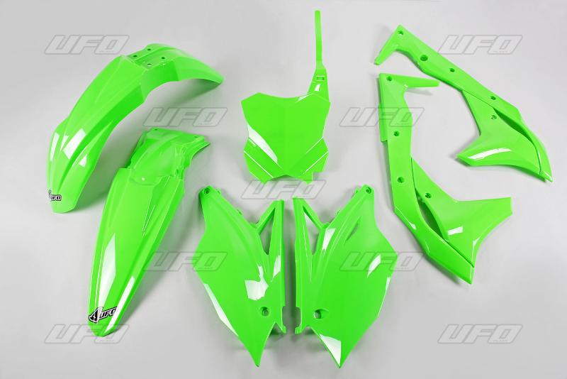 Sada plastů UFO KXF 250 2018-AFLU-neon/zelená