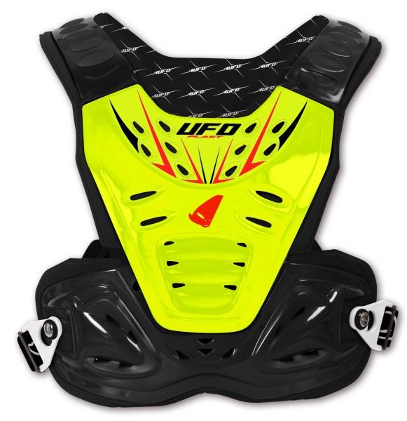 Chránič hrudi dětský-DFLU-neon/žlutá