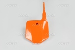 Číslová tabulka KX 65-127-oranžová (03-)