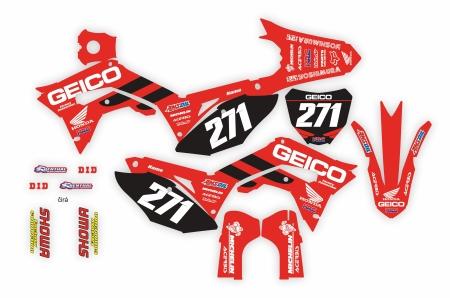 Design 139 - Honda CRF R 450  2017 - 2019, Honda CRF R 250  2018 - 2019