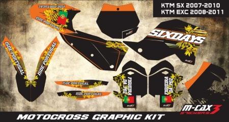 Design 27 - KTM SX 125  2007 - 2010, KTM SX 250  2007 - 2010, KTM SX F 250  2007 - 2010, KTM SX F 450  2007 - 2010, KTM EXC 125  2008 - 2011, KTM EXC 250  2008 - 2011, KTM EXC F 250  2008 - 2011, KTM EXC F 350  2008 - 2011, KTM EXC F 450  2008 - 2011, KTM SX F 525  2008 - 2011