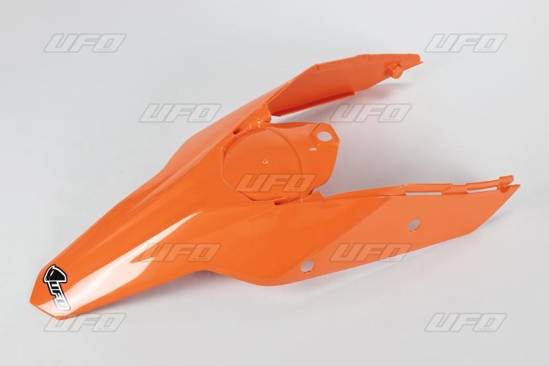 Zadní blatník s bočnicemi KTM-127-oranžová (03-)