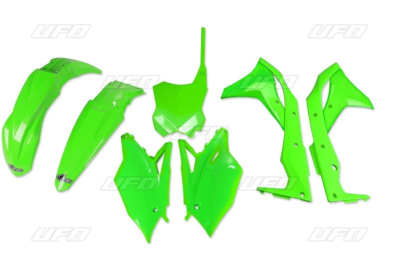 Sada plastů UFO KXF 250 2017-AFLU-neon/zelená