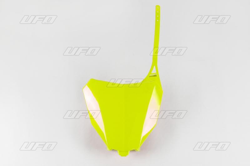 Přední číslová tabulka CRF 450R-450RX 2017--DFLU-neon/žlutá