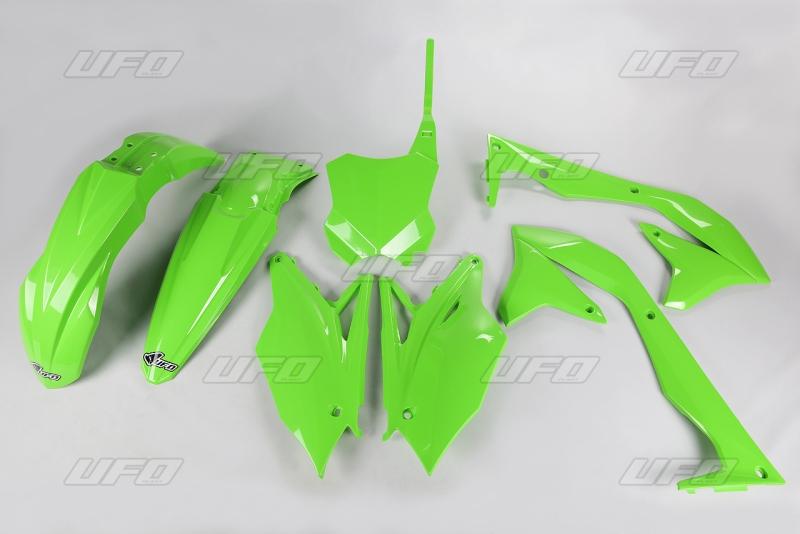Sada plastů UFO KXF 450 2016-026-zelená KX org.