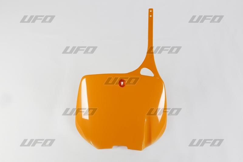 Přední číslová tabulka KTM-126 -oranzova stara