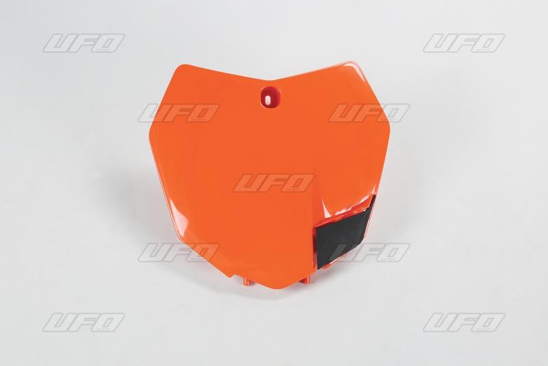 Přední číslová tabulka KTM-127-oranžová (03-)