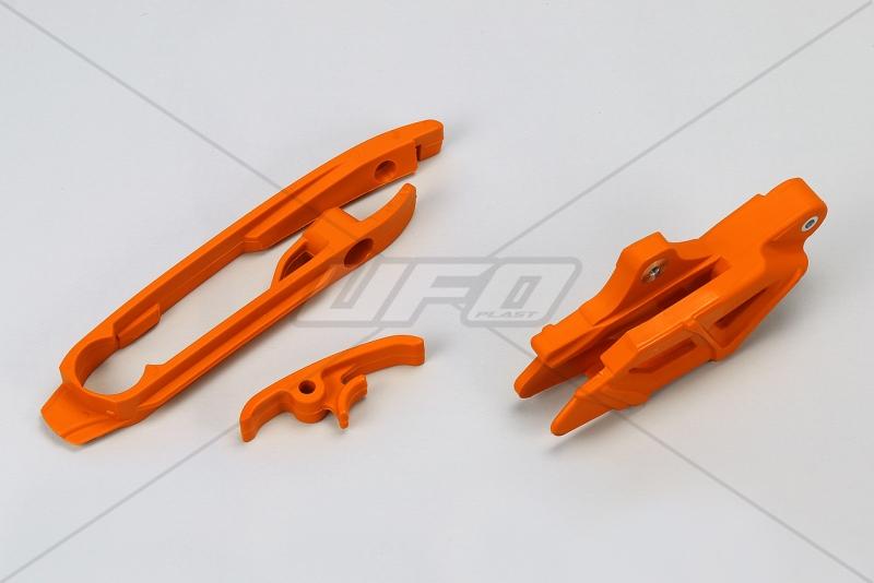 Sada vodítka a lízátka kyvné vidlice SX-SXF (2011) -127-oranžová (03-)