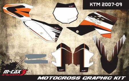 Design 34 - KTM SX 125  2007 - 2010, KTM SX 250  2007 - 2010, KTM SX F 250  2007 - 2010, KTM SX F 450  2007 - 2010