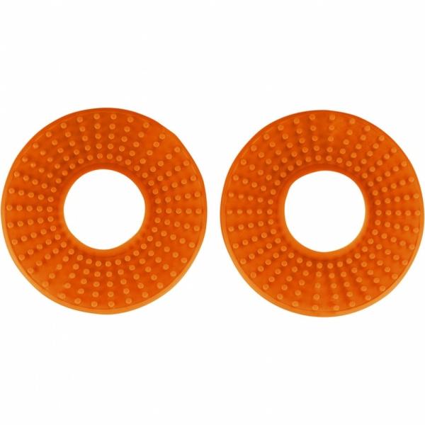 Kroužky gumové k ručkám řídítek  pár-127-oranžová (03-)